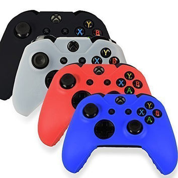 Joystick Soft Silicone Protective Sleeve Case Skin Cover for xbox ONE Controller Free shipping