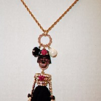 eBlueJay: Betsey Johnson Skeleton Bride Necklace Black Lace Day of the Dead Dia de los Muertos