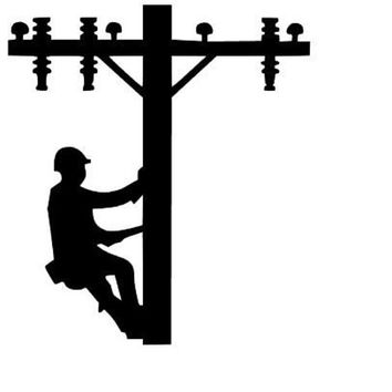 Lineman's Electricity Power Line Decal