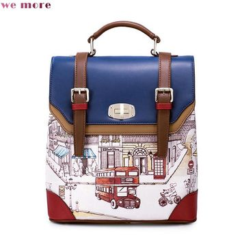 British Inspired Canvas Backpack