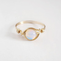 Brass Opalite Ring