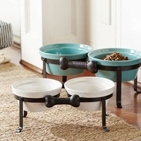 Cambria Pet Bowl & Stand