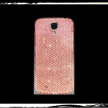 Light Pink Samsung Galaxy S5 Case Made With Swarovski Elements Crystals - Also Available for Galaxy S4 and S3