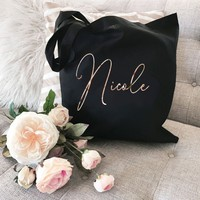 Bridesmaid Tote Bags - Canvas