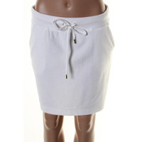 MICHAEL Michael Kors Womens Terry Cloth Drawstring Knit Skirt