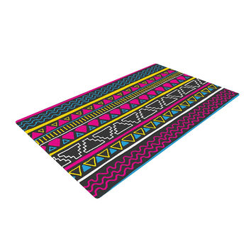 "Fimbis ""Keef"" Yellow Magenta Woven Area Rug"