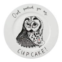 Owl Protect You My Cupcake Side Plate