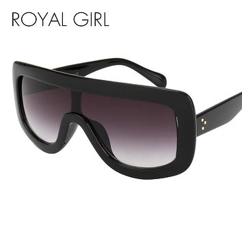 ROYAL GIRL NEW Unique Sunglasses Women Vintage Oversize Frame Sun Glasses Acetate Shades Gradient UV400 ss376