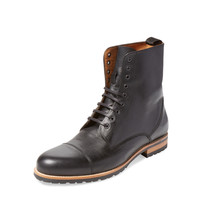 Leather Boot - Black -
