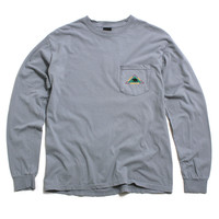 Catskill Longsleeve Pocket T-Shirt Charcoal
