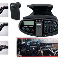 XN-88A Car Steering Wheel Car Kit with Bluetooth Headset, Phonebook, MP3 Player and FM Radio (Black)