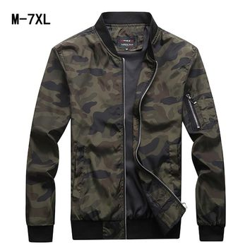 2018 Spring Autumn Mens Casual Jacket Men Clothes Male Fashion Fitted Large Size M-7XL Men Waterproof Clothes Zipper Jackets