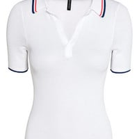 Ribbed Polo Shirt - from H&M