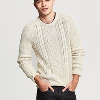 Modern Cable-Knit Crew