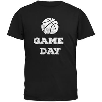 Game Day Basketball Black Youth T-Shirt
