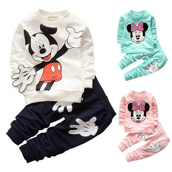Baby Clothing Set Spring Children's Clothing Suits Batman Kids Boy Tracksuit Child Sports Suit T-shirt+Pants Baby Girls Clothes