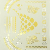Surya Bhuja Metallic Flash Tattoos