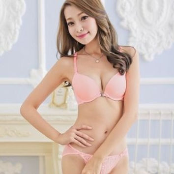 8808 Japan and South Korea-style front buckle beauty back sexy underwear sets bra set = 1753498564
