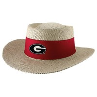Georgia Bulldogs Tournament Straw Gambler Hat | UGA Straw Hat | Georgia Bulldogs Hats