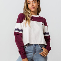CHAMPION Exaggerated Sleeve Womens Crop Tee