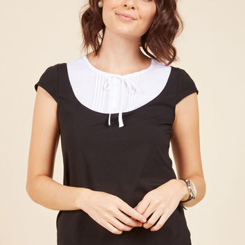 Lovely Everlasting Knit Top in Black | Mod Retro Vintage Short Sleeve Shirts | ModCloth.com