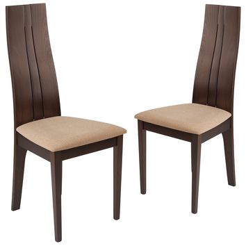 2 Pk. Essex Wood Dining Chair with Fabric Seat