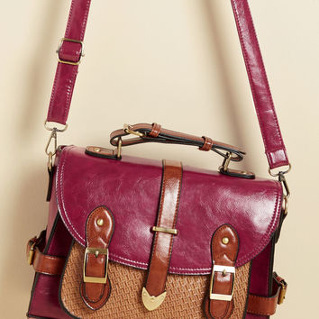Authentically Academic Bag in Berry | Mod Retro Vintage Bags | ModCloth.com
