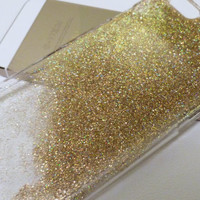 Gold holographic iridescent Glitter Iphone 5 case 5s case 4 4s 5c 6 6plus Phone Case cover, Glittery Sparkly bling cover Real glitter Resin