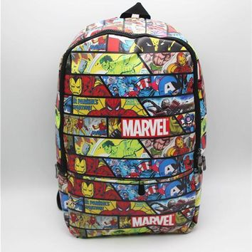 Marvel Comics bag super hero cosplay Backpack Book Bag