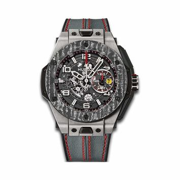 Hublot 401.NJ.0123.VR Big Bang Ferrari Titanium Carbon- Unworn with Box & Papers