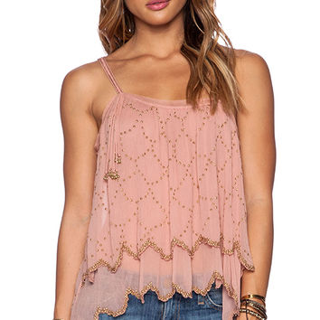 Free People Fairy Dust Tank in Peach