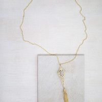 Wishing Tassel Long Necklace