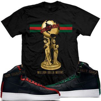 2018 BHM - Air Force Ones 1 Sneaker Tees Shirt - WORLD IS YOURS