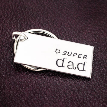 Super Dad Key Chain - Father's Day - Gift for Dads - Aluminum Key Chain