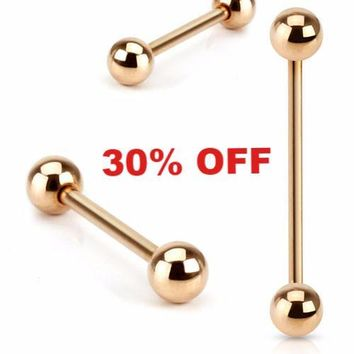 Rose Gold Industrial Piericing Barbell 14ga Surgical Steel Body Jewelry Piercing Jewelry Upper Ear Black Friday Cyber Monday