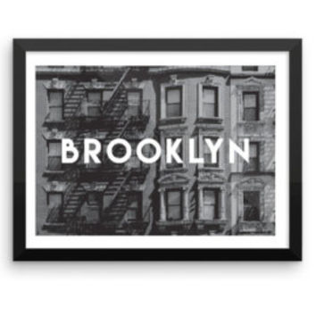 New York | TRAVEL ART PRINT | A5/A4/A3/A2 - New York Travel Poster, America, Graphic Design, Typography, Black and White