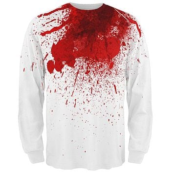 Halloween Decapitated Costume All Over Adult Long Sleeve T-Shirt