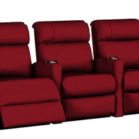 3-Seat Fabric Reclining Home Theater Seating (Straight) Smallville by Savvy