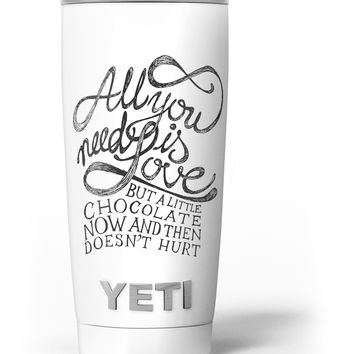 Love and Chocolate Yeti Rambler Skin Kit
