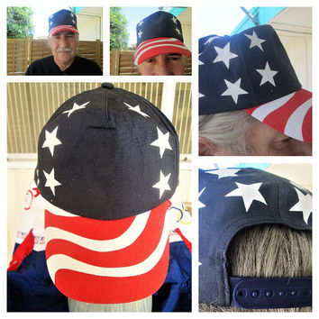Unisex  Flag Cap Stars and Stripes Funky Fashion Independence Day 4th of July