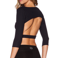 SOLOW Lux Rib Cutout in Black
