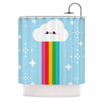 "KESS Original ""Mr. Rainbow"" Multicolor Kids Shower Curtain"