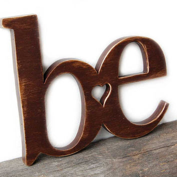 wooden wall sign CUSTOM paint rustic decor Chocolate Brown