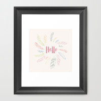 Hello V2 Framed Art Print by 83oranges.com