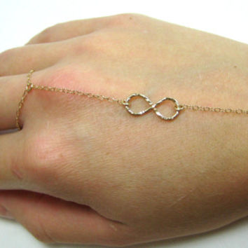 Infinity finger bracelet, gold infinity slave bracelet, infinity bracelet, gold infinity bracelet, gold infinity hand chain, bridesmaids