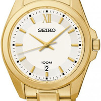 Seiko SGEG64 Classic Gold Tone Mens Watch
