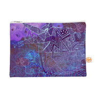 "Marianna Tankelevich ""Abstract With Wolf"" Purple Illustration Everything Bag"