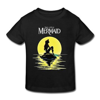 Fashion 2017 Top Tee Short Sleeve Mens New Brand-Clothing T Shirts The Little Mermaid Ariel Animated Toddler TShirt Softness