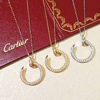 Cartier New fashion diamond opening pendant women necklace