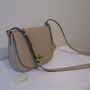 MICHAEL KORS BEDFORD MEDIUM SADDLE CROSSBODY/SHOULDER BAG PURSE..Authentic!!!